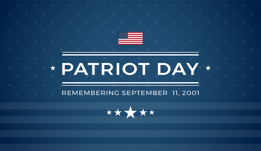 Patriot Day Background With Text - Remembering September 11
